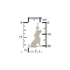 Silhouette Dog Charm - C1218, Sterling Silver, Best Friend Charms, Pet Charms