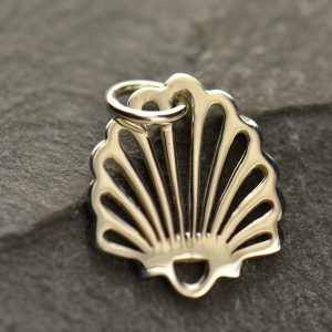 Small Shell Charm - C1183, Sterling Silver, Nautical, Beach, Ocean, Sealife
