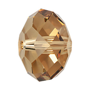 8mm Rondelle Faceted Colorado Topaz Light Swarovski Crystal Beads - 10PK