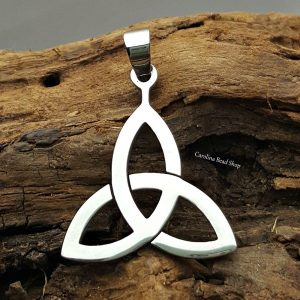 Celtic Triquetra Pendant - Stainless Steel, Marquis Shapes, Pendant