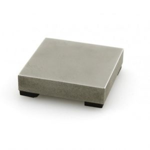"ImpressArt Small 2"" Steel Block w Rubber Feet , Stamping Tools"