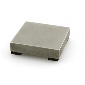 """ImpressArt Small 2"""" Steel Block w Rubber Feet , Stamping Tools"""