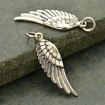 Ribbed Angel Wing Charms - Choose Your Favorite Style, Textured Wing, Angel, Faith