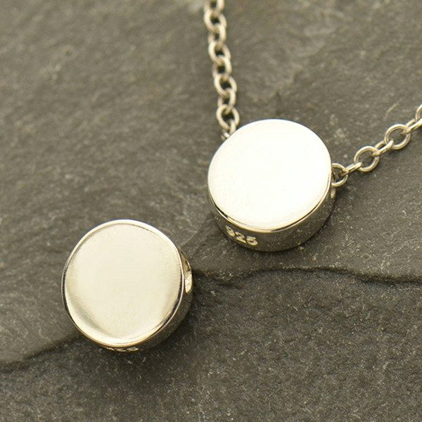 Sterling Silver Circle Bead - C1738, Necklace Beads, Round Beads