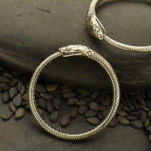 Sterling Silver Ouroboros Snake Connector Link