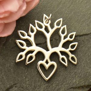 Tree of Life Pendant - Blooming Heart Tree Pendant, Sterling Silver, A1774