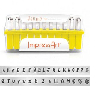 ImpressArt Jeanie Uppercase , 4mm Character, Complete Set - Stamping Tools