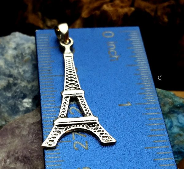 Eiffel Tower Pendant - Flat Backside, Sterling Silver, Vacation & Travel Charms