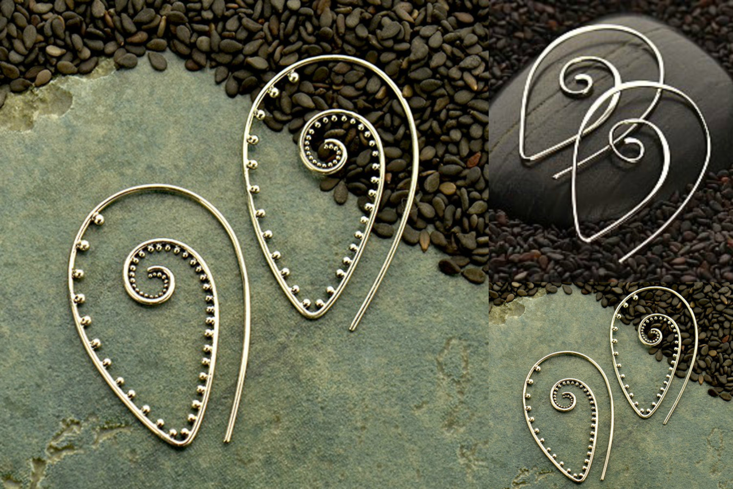 Spiral Earring Findings, Choose Your Favorite Style