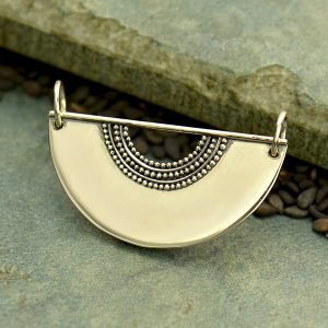Scallop with Granulation and Wire Festoon  - C3141, Necklace Pendant, Stamping Blank