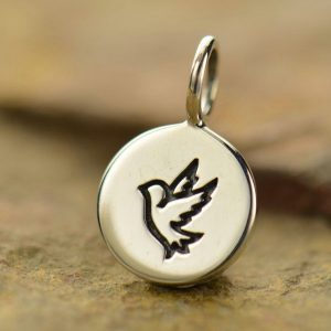 Round Tag with Peace Dove Stamp - C928