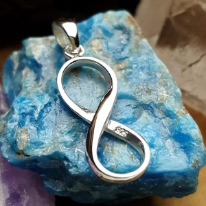Sterling Silver Infinity Pendant - Figure Eight Charms, Love, Eternity