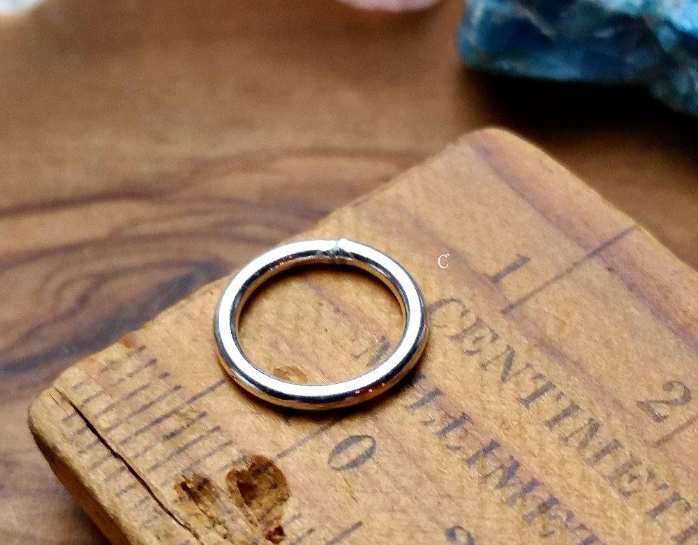 10mm 17ga Closed Jump Rings - Sold By 10PK, Findings, O Rings