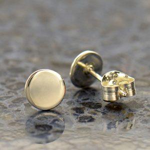 Minimalist Jewelry - Sterling Silver Dot Stud Earrings - C3175