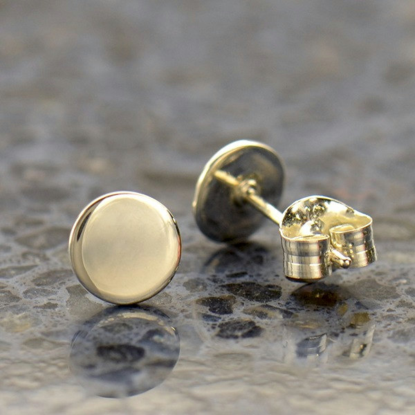 Minimalist Jewelry - Sterling Silver Dot Stud Earrings - C3175