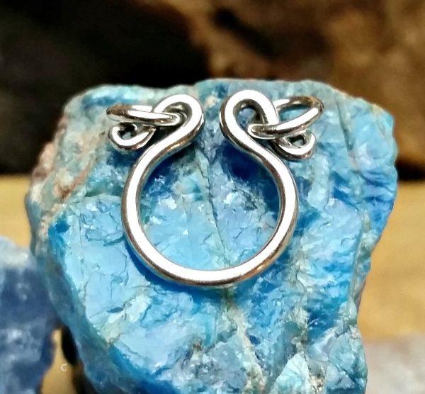 Sterling Silver Pendant Holder - C362, Ring, Charm Holder, Beads, Treasures