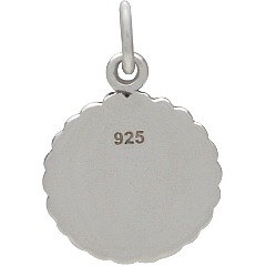 Horse Show Award Ribbon Charm- C1706, Sterling Silver