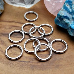 10mm 17ga Closed Jump Rings - Sold By 10PK, Findings, O Rings