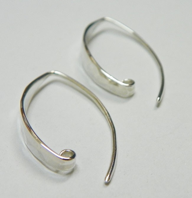 Contemporary Hammered Earrings, C2197, Sterling Silver, 18k Rose Gold,  Natural Bronze & 24k Gold Plated