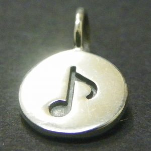 Sterling Silver Music Note Charm - C703, Hobby Charms, Enthusiast,