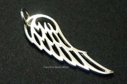Angel Wing Charm - Small - C696, Guardian Angel, Aviary, Bird Wing, Feather, Choose Your Favorite Style