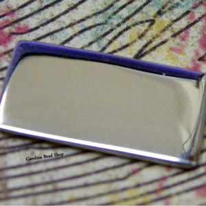 Sterling Silver Rectangle Stamping Blank to use with Envelope Pendant