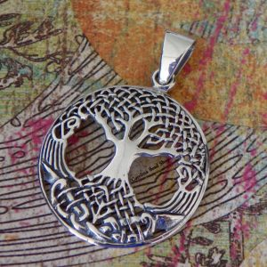 Sterling Silver Large Pendant with Tree of Life  - Woodlands, Tree, Family, Children, Ancestry