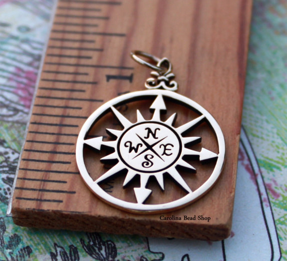 Compass Rose Pendants - C749, Nautical Charms, Sealife, Graduation Gifts, Choose Your Favorite