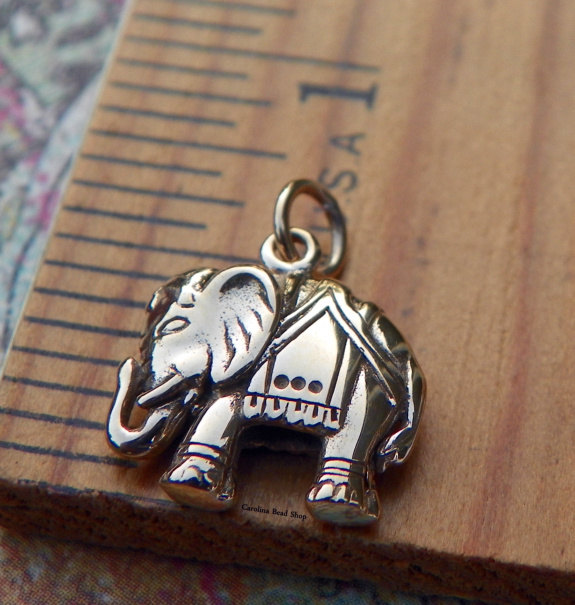 Elephant Charm - Choose From Natural Bronze Or Sterling Silver