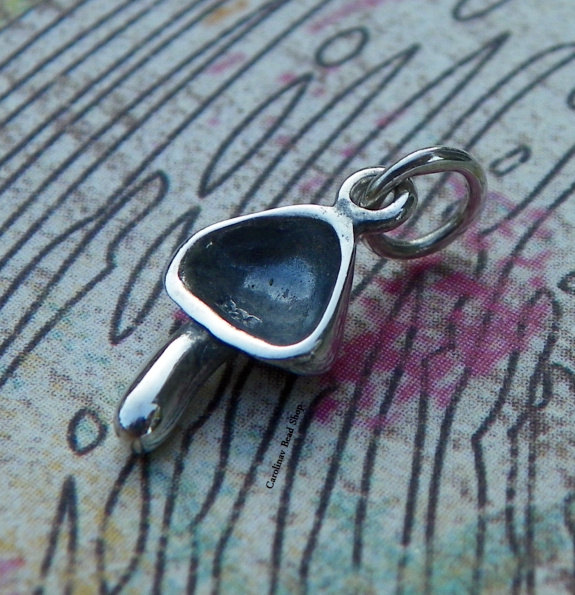 Mushroom Charm Sterling Silver  - C1106, Food, Nutrition, Country Food Charms