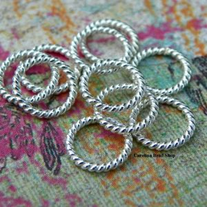 8mm Twisted Closed Jump Rings (10PK)