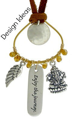 Sterling Silver Ganesh Charm - C742, Elephant Charm, Spiritual Wakening, Internal Balance, Wisdom