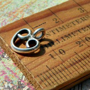 10mm Prayer Heart Charms - Hill Tribe Silver, Religious Charms, Hearts, Faith, Love, Spiritual