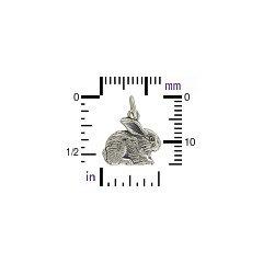 Sterling Silver Rabbit Charm -Animal Charms, Pet Charms, Bunny Rabbit, C774