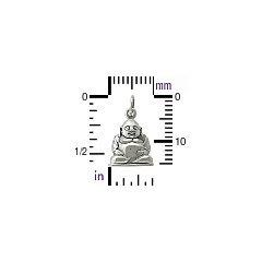 Sterling Silver Happy Buddha Charm - Chakra, Yoga, Meditation, Spiritual Charms, C580