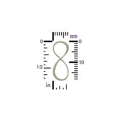 Infinity - Small Sterling Silver Infinity Link - C2695, BULK DISCOUNT - Figure Eight Infinity Charm, Connector Links