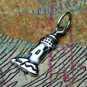 Sterling Silver Lighthouse Charm - Nautical, Ocean, Sealife, Beach