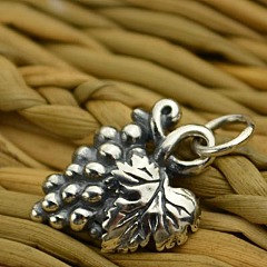 Sterling Silver Cluster of Grape Charm