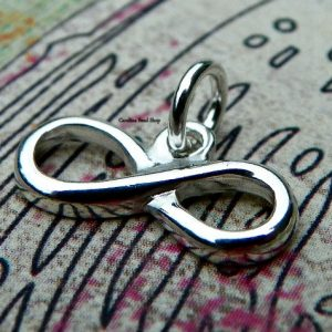 Polished Sterling Silver Infinity Charm