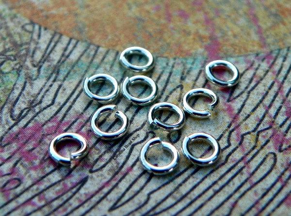 5mm 20ga Open Hard Snap Locking Rib Jump Rings - Bulk Discounts (10PK, 25PK, 50PK, 100PK) - CJ85, Findings, Open Jump Rings