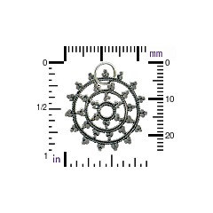 Sterling Silver Snow Flake Mandala - Winter, Snow, Icicles, Magical
