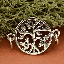 Tree of Life Sterling Silver Link - C1265, Bracelet Findings, Necklaces, Family Tree, Bridal Gifts
