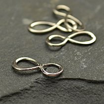 Tiny Sterling Silver Infinity Link  Infinity - C2822, Figure Eight Charm, Connector Charm, Forever Charm, Design Ideas Lets Get Creative