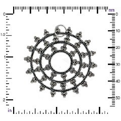 Sterling Silver Large Snow Flake Mandala - Winter, Snow, Icicles, Magical