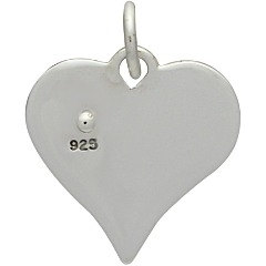 Sterling Silver Heart with Riveted Bronze Heart Charm - Connectors - Stamping Blanks, Hearts