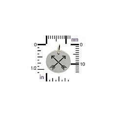 Sterling Silver Friendship Arrows Disc -  C1309, Archery, Hunter, Sportsman, Love, Native Americans