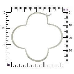 Sterling Silver Clover Hoop Earring Finding - Hammered Finish, Findings, Hoop Earrings, Luck of the Irish