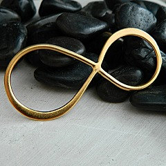 Infinity - 24K Gold Plated Extra Large Infinity Link - CG2711, Figure Eight Charms, Connectors, Links