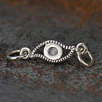 Sterling Silver Evil Eye Link - Amulets, Protective, Links, Connectors