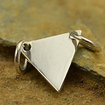 SALE - Triangle Festoon Stamping Blank - C2872, Blank Charms, Sterling Silver